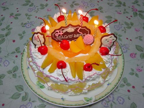 ミーのバースデーケーキ
