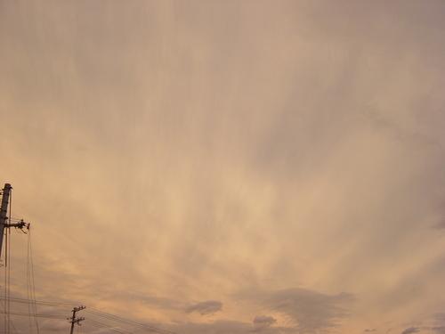 ある夕方の空